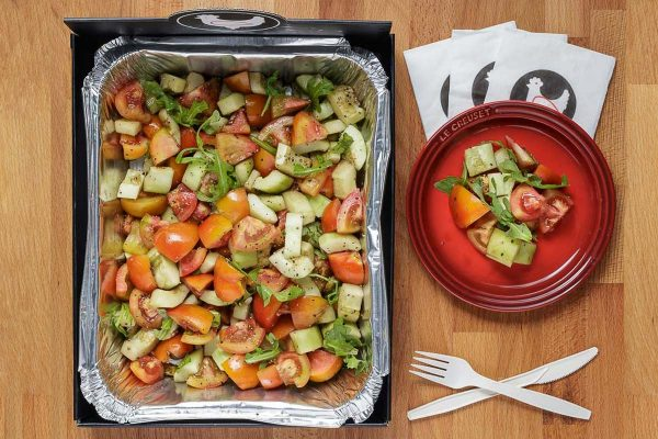 Cucumber and Tomato Salad for Catering